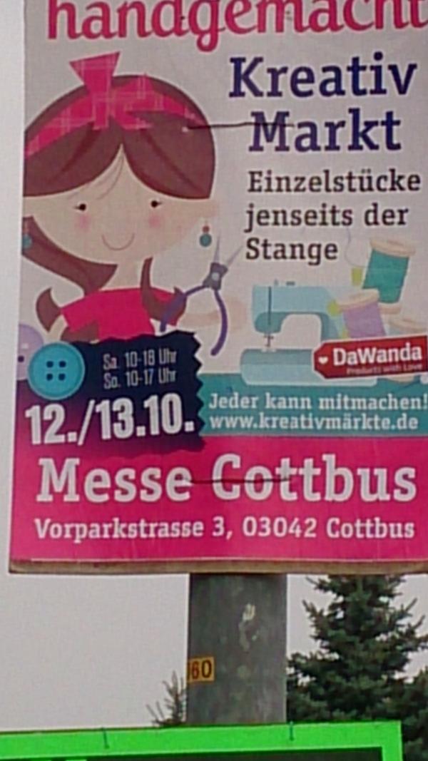 Plakatwerbung für den Dawandamarkt