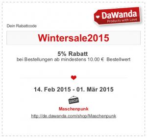 Wintersale Rabatt bei Dawanda Maschenpunk